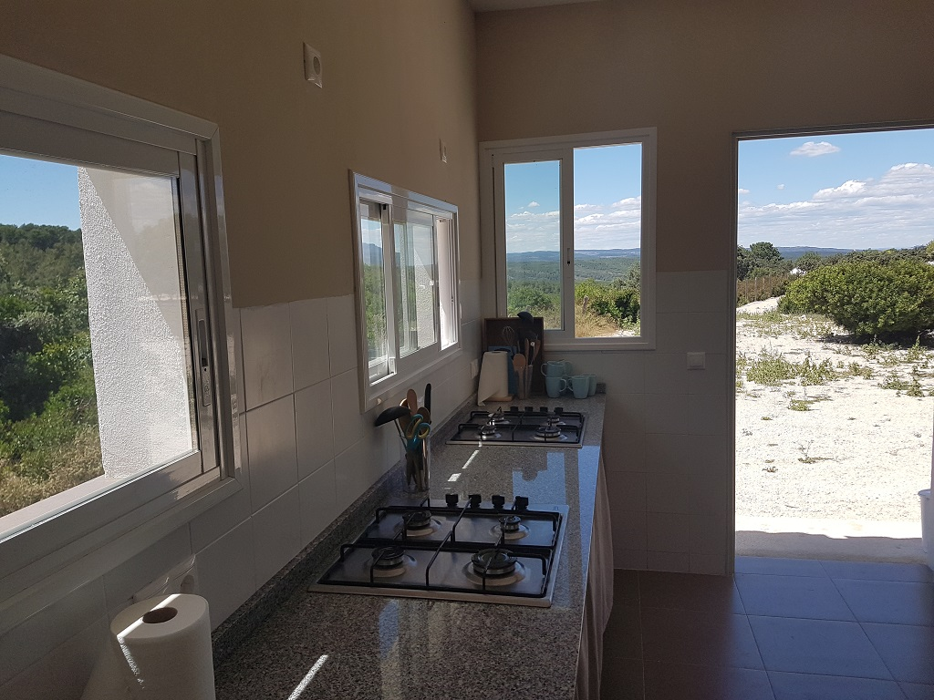 Gezamenlijke keuken van camping Benalí