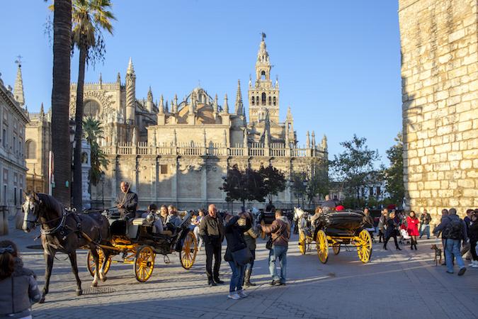 De kathedraal van Sevilla (Andalusië) - een van de grootste kathedralen ter wereld.