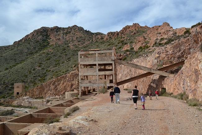 Goudmijnen Rodalquilar in natuurgebied Cabo de Gata (Almería, Andalusië)
