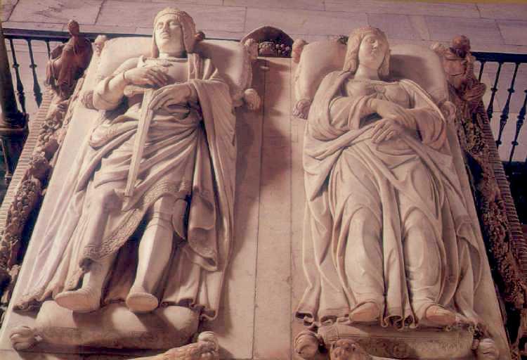 De graftombe van de Katholieke Koningen Isabel en Fernando in de Capilla Real in Granada