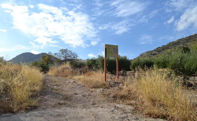 Begin natuurpark Sierras Subbeticas vanaf vakantiehuizen van La Mimbre Rural in Zagrilla Alta (Andalusië)