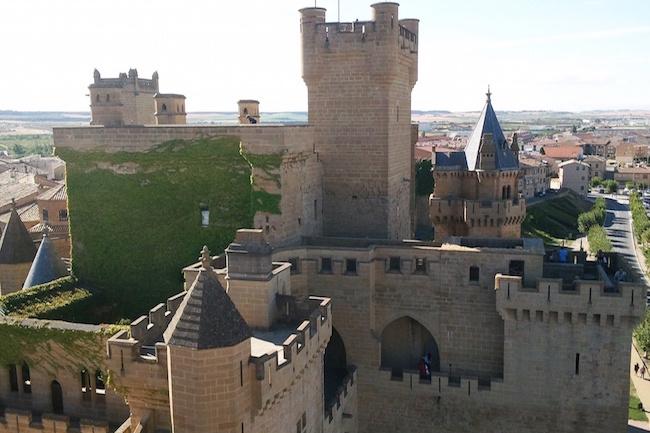 Het Kasteel van Olite in Navarra (Spanje)
