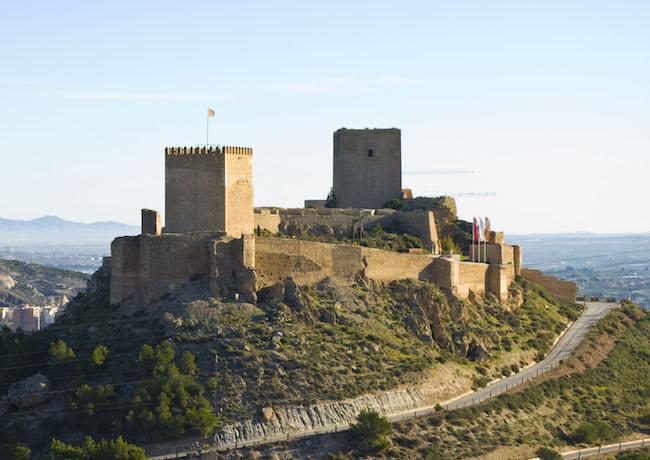 Kasteel van Lorca (Murcia, Zuid Spanje)