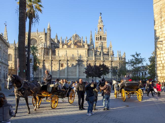 De kathedraal van Sevilla (Andalusië, Spanje)