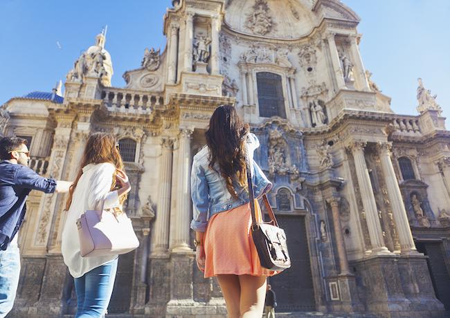Kathedraal van Murcia stad op Plaza Belluga