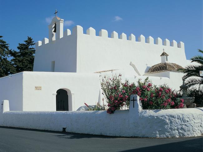 Kerk van San Jorge op Ibiza (Balearen)
