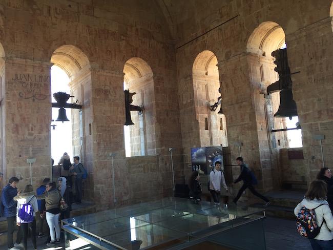 De klokkentoren van de kathedralen van Salamanca (Midden Spanje)