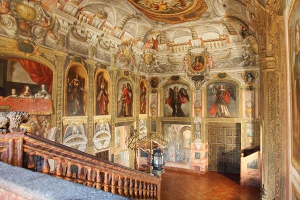Het Klooster van de Koninklijke Ongeschoeiden in Madrid (Spanje)