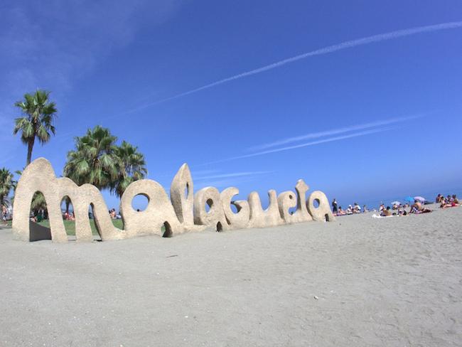 Stadsstrand La Malagueta in Malaga (Zuid Spanje)