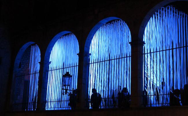 Bijzondere verlichting tijdens het LLUM BCN in Barcelona