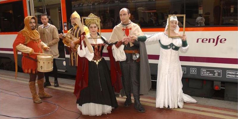Middeleeuws vertier tijdens treinreis in Renfe's Middeleeuwse trein van Madrid naar Siguenza - Foto: J.Alonso