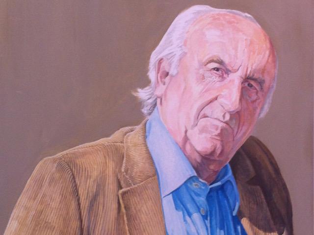 Schilderij van Antonio Perez, oprichter van het kunstmuseum Fundación de Antonio Pérez in Cuenca