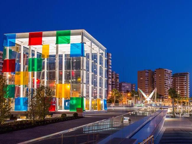 Het Centre Pompidou van Malaga (Andalusië, Spanje)