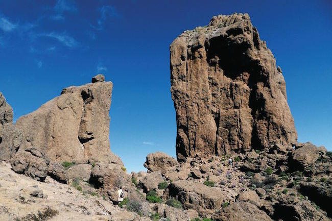 Roque Dublo op het Canarische eiland Gran Canaria