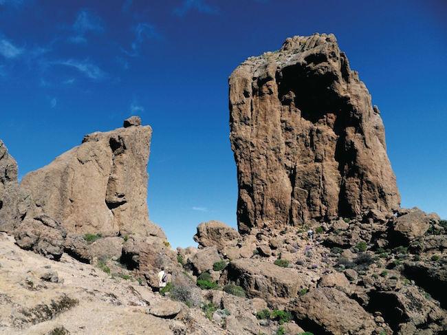 De indrukwekkende Roque Nublo rots op het Spaanse eiland Gran Canaria