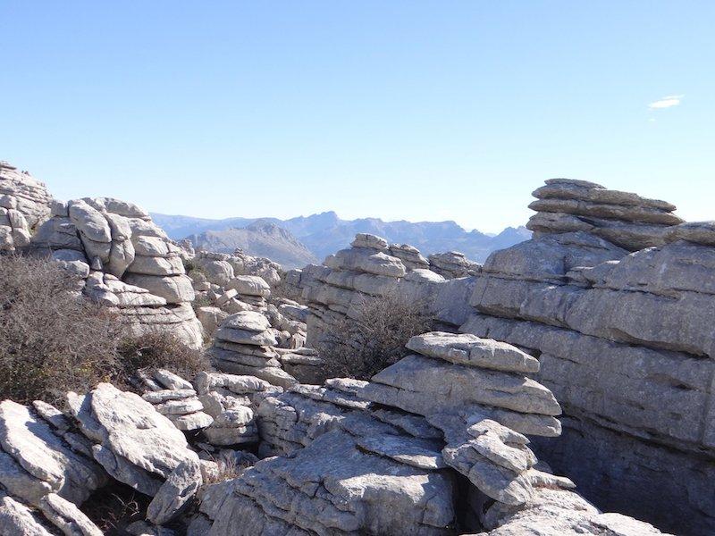 Bizarre rotsformaties in natuurpark El Torcal (Málaga)