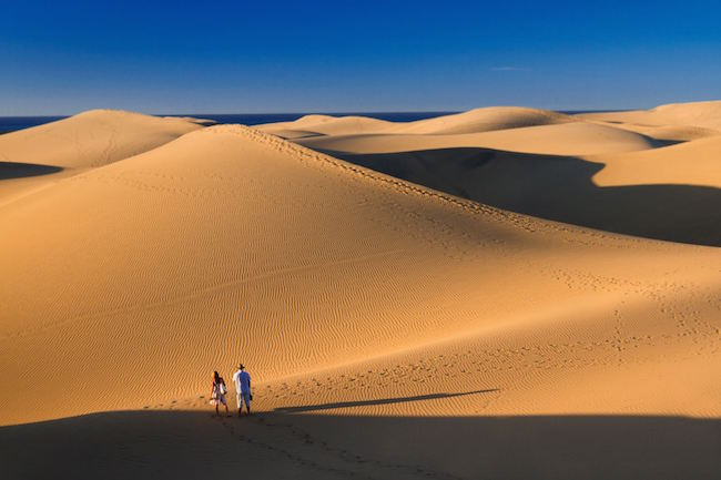 Waan je in een woestijn in de Dunas de Maspalomas op Gran Canaria (foto: Alex Bramwell)!