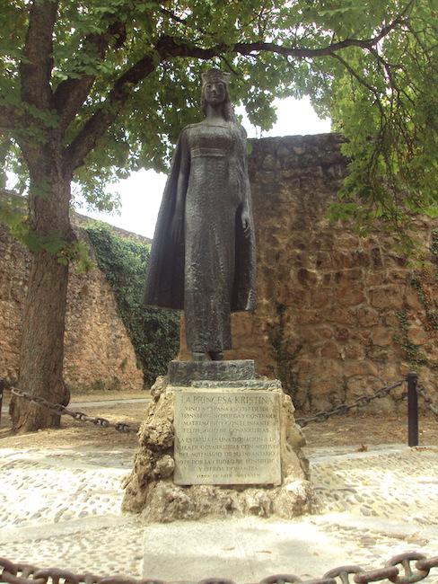 Monument in Covarrubias voor de Noorse prinses Kristina