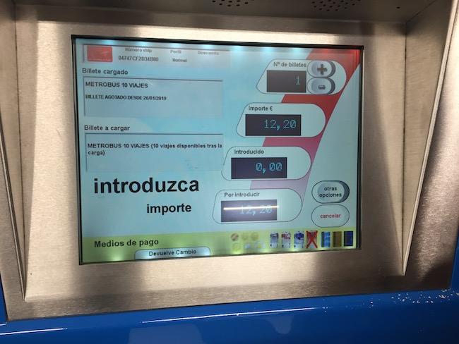 Metrobus 10 viajes - 10 reizen met metro of bus in Madrid
