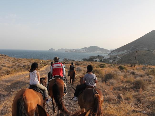 Paardrijden in Cabo de Gata in zuidoost Andalusië