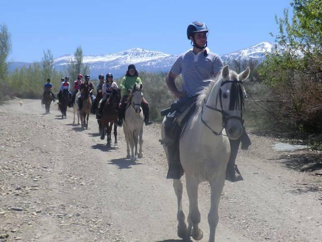 Paardrijden in de Sierra Nevada