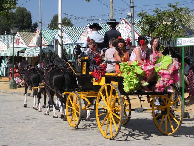 De Feria de Abril in Sevilla (Andalusië, Spanje)