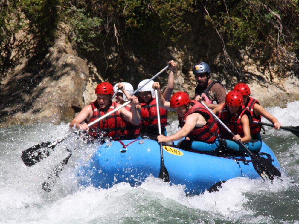 Raften op de Isábena rivier in Aragón