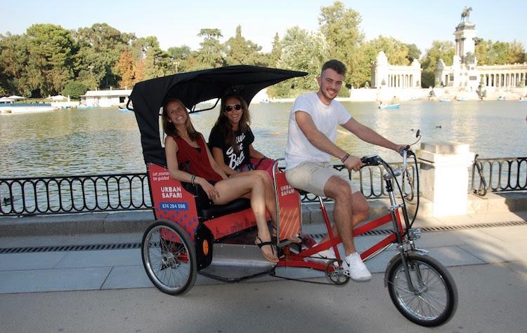 Beleef de Spaanse hoofdstad Madrid vanuit een Rickshaw!