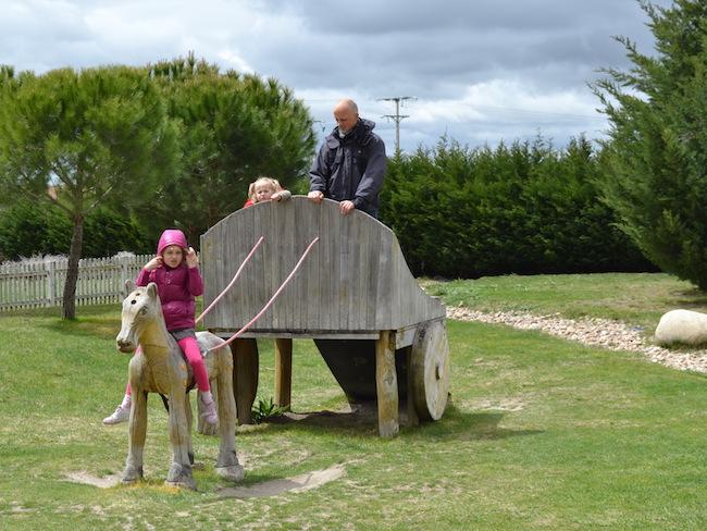 Romeinse speeltuin bij de Romeinse opgravingen in Midden Spanje