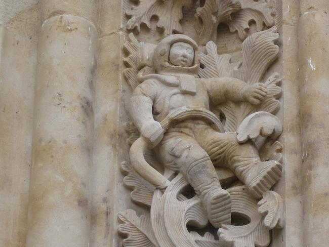 Astronaut in nieuwe kathedraal Salamanca
