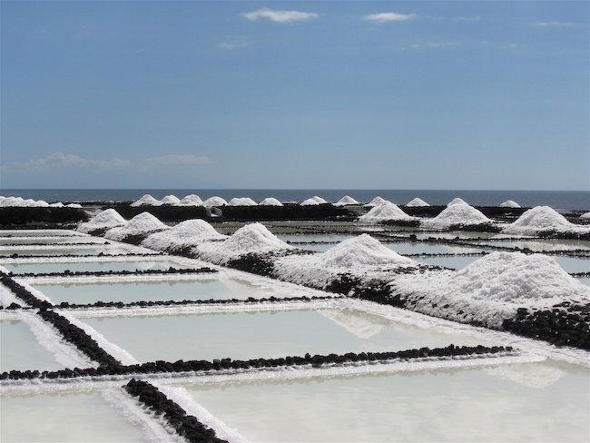 De zoutvelden van Fuencaliente op La Palma