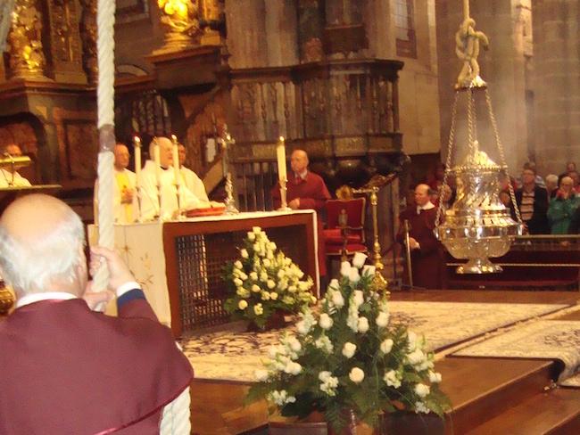De Botafumeiro in de kathedraal van Santiago de Compostela (Noord Spanje)