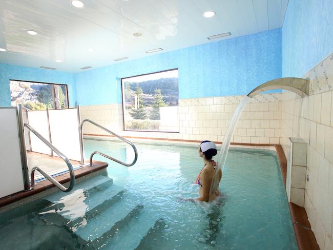 Deel van de Spa in het landelijk hotel La Senda de los Caracoles in Ayllón (Segovia, Midden Spanje)