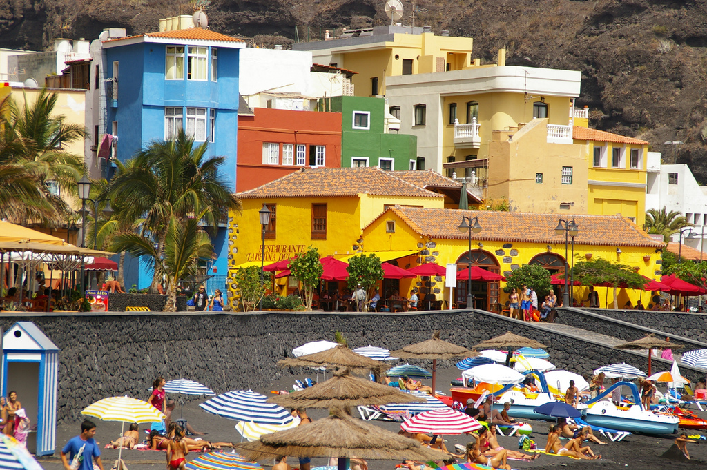 Puerto de Tazacorte op Canarisch Eiland La Palma