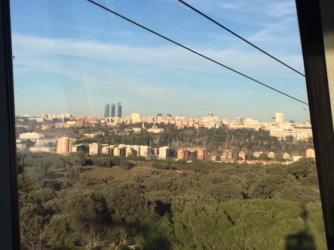 De vier Torens van Madrid vanuit de kabelbaan
