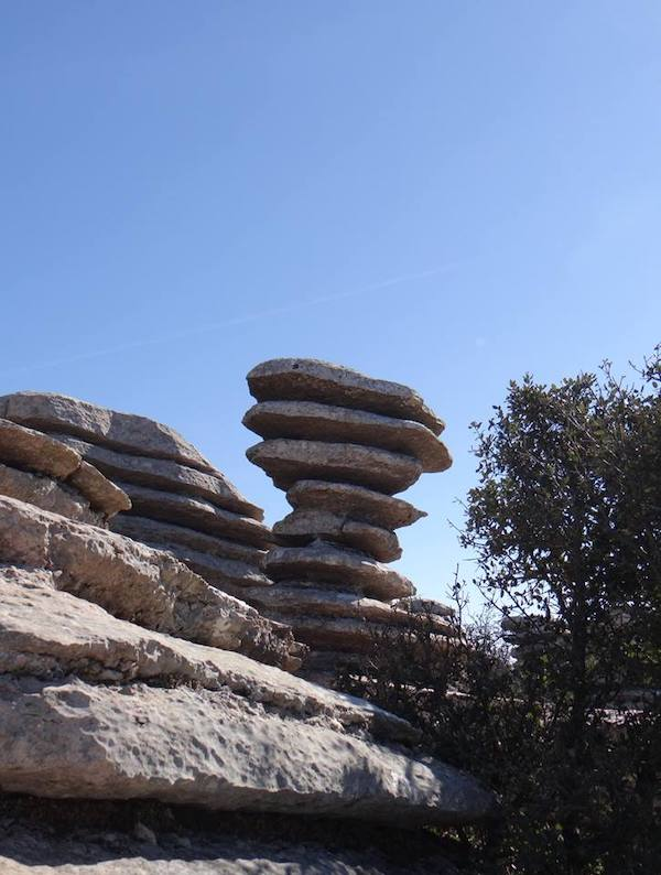 El Tornillo (=schroef) - het symbool van El Torcal in Zuid Spanje