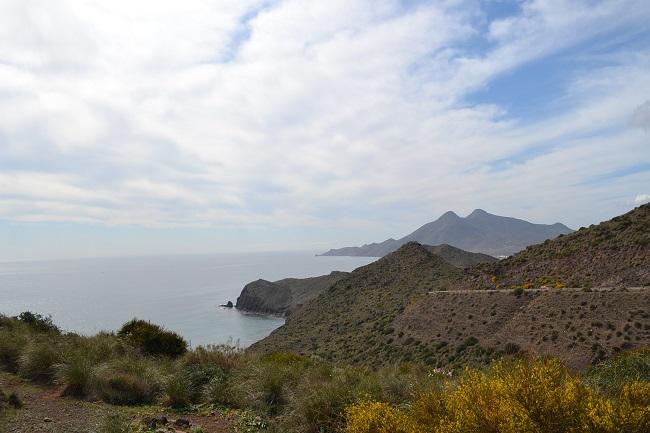 Uitkijkpunt tussen Rodalquilar en Isleta del Mar in biosfeerreservaat Cabo de Gata