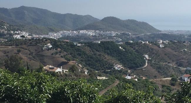 Een verbluffend uitzicht vanaf het terras van Restaurant La Venta de Frigiliana
