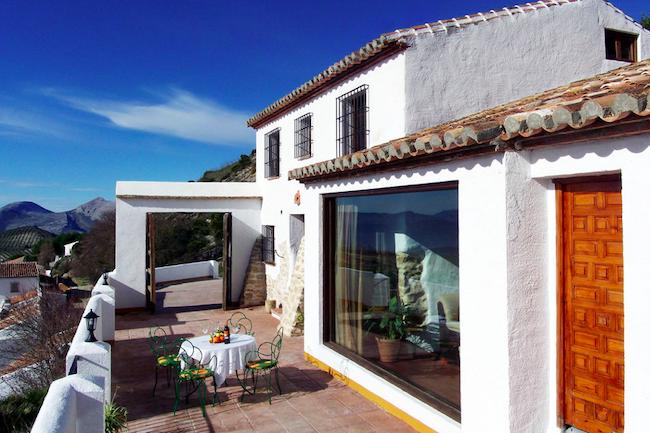 Uitzicht vanuit vakantiehuis Casa del Pastor in Los Nogales bij natuurpark El Torcal (Málaga, Andalusië)
