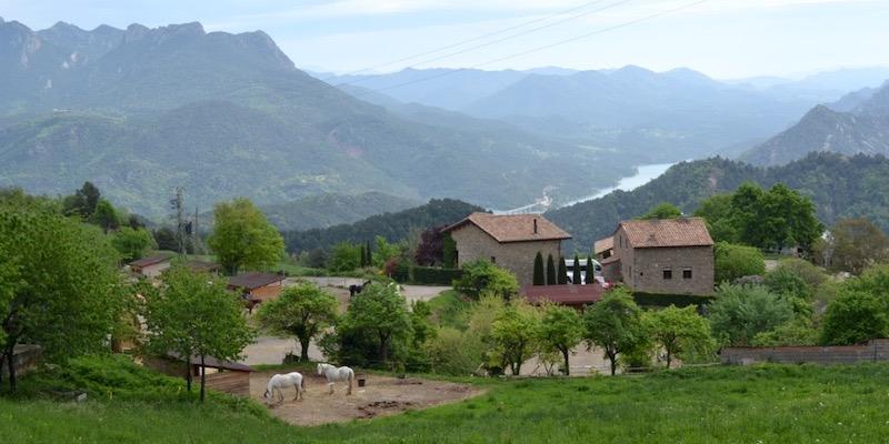 Het kindvriendelijke vakantiehuis Cobert de Vilaformiu in de bergen van Catalonië