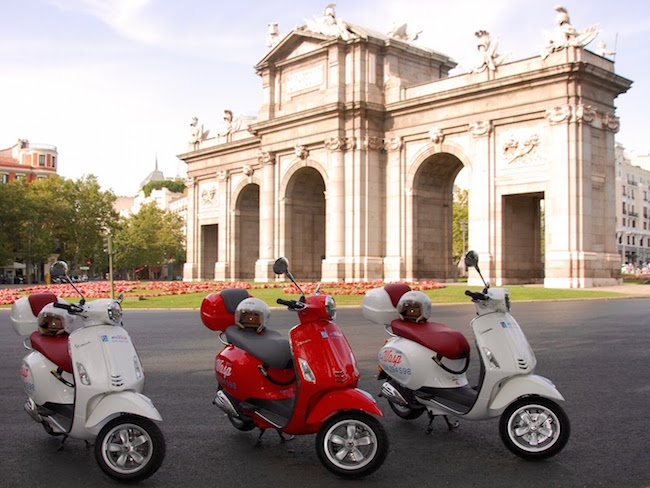 Een Vespa tour door Madrid van Urban Safari