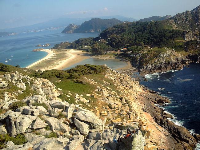 De Cíes eilanden voor de kust van Vigo (Noord Spanje)