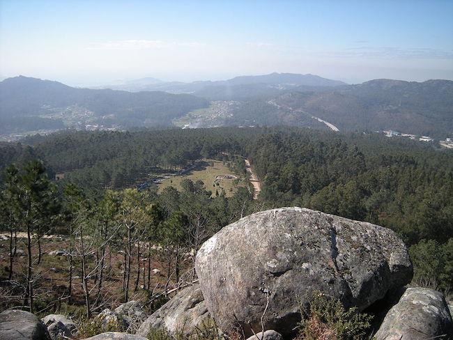 De Galiñeiro berg buiten Vigo (Noord Spanje)