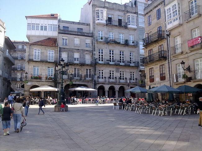 Praza do Constitución in Vigo (Noord Spanje)