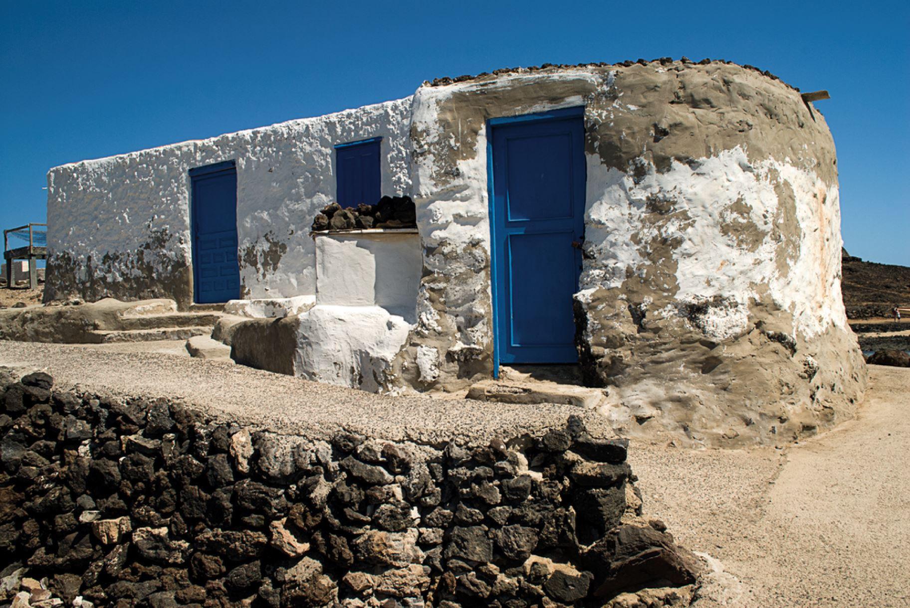 Vissershutten op het bijna ongerepte eilandje Lobos ten noorden van Fuerteventura