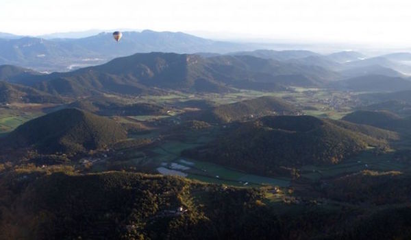 Vulkaangebied La Garrotxa in het binnenland van Catalonië