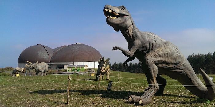 Foto: museo jurásico de asturias (dinosaurusmuseum in Asturië, Noord Spanje)