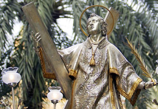 Beeld van San Vicente Mártir, de belangrijkste martelaar van Spanje