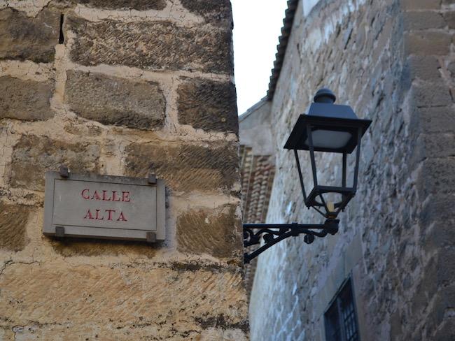 Romantische steegjes in oude binnenstad Baeza (Zuid Spanje)