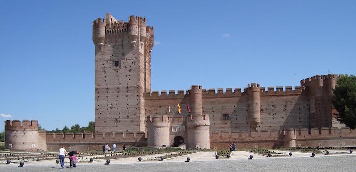 Castillo de la Mota in Medina del Campo (Castillië en Leon)